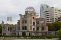 купол hiroshima города бомбы Стоковая Фотография