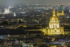 Купол Iluminated в Париже на ноче Стоковые Фотографии RF