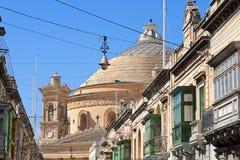 Купол Mosta, Мальта Стоковые Фото