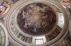 купол rome покрашенный музеем vatican стоковое фото rf