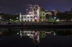 Купол атомной бомбы взгляда ночи Стоковая Фотография RF