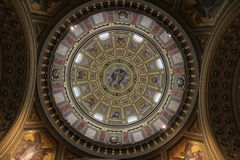 купол базилики Stephens Святого Стоковые Фотографии RF