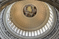 Купол внутри капитолия США, DC Вашингтона стоковые фото