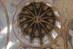 Купол в Chora Musuem стоковые фотографии rf
