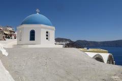 Купол в Oia Стоковое Фото