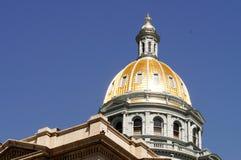 Купол золота здания Денвера Колорадо прописной Стоковое Изображение RF