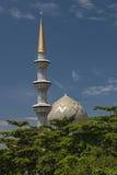 Купол и минареты мечети положения Сабаха в Kota Kinabalu Стоковое Изображение