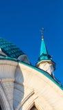 Купол и минарет мечети Qol Sharif kazan kremlin Архитектурноакустическая часть Стоковая Фотография