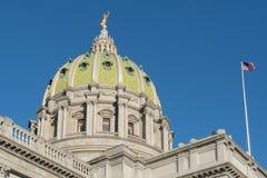 Купол капитолия Пенсильвании Стоковые Изображения RF