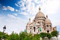 Куполки священного сердца, Парижа, Франции Стоковая Фотография
