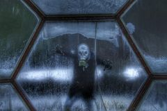 Купол космоса: Люди в космосе Стоковое Изображение RF