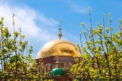 Купол мечети собора самары стоковое изображение