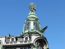 Купол дома певицы святой petersburg России моста okhtinsky Стоковые Фото
