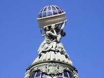 Купол дома певицы святой petersburg России моста okhtinsky Стоковые Изображения