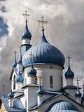 Купол православной церков церков рождества в Srednyaya Rogatka Стоковые Изображения RF
