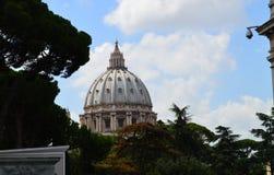 Купол Рим базилики St Peter Стоковое Изображение RF