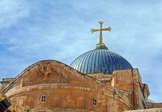 Купол святого собора Sepulchre, Иерусалима стоковые фото