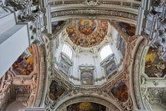 Купол собора в Passau, Германии стоковая фотография rf