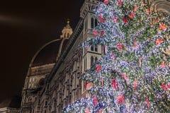 Купол собора и рождественской елки Стоковые Фото