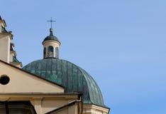 Купол собора предположения девой марии (латинский собор) lvov Стоковое Изображение