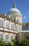 Купол собора троицы Солнечный праздник Первого Мая Александр Nevsky Lavra, Санкт-Петербург Стоковое Фото