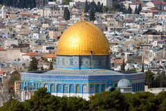 Купол утеса в Иерусалиме - Израиле стоковая фотография