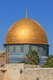 Купол утеса в старом городе Иерусалима Стоковые Изображения RF