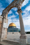 Купол утеса, Иерусалима, Израиля стоковое изображение rf