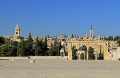 Купол духов вдоль квадрата на Temple Mount Стоковое Фото