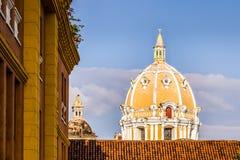 Купол церков San Pedro Claver - Cartagena de Indias, Колумбии Стоковое Фото