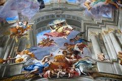 Купол церков St Ignatius Loyola. Рим, Стоковая Фотография