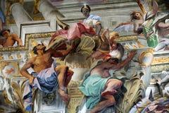 Купол церков St Ignatius Loyola. Рим, Стоковое Фото
