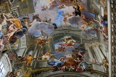 Купол церков St Ignatius Loyola. Рим, Стоковые Изображения RF