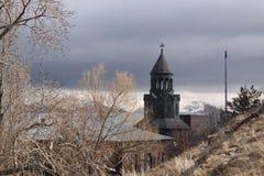Купол часовни Surb Hakob, Sevan, Армения стоковая фотография rf