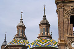 Куполы базилики del Pilar Стоковое Изображение