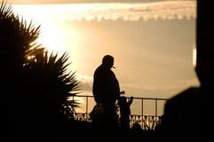 курильщица силуэта Стоковое фото RF