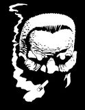 курильщица человека Стоковая Фотография RF