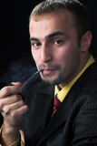 курильщица стоковое фото rf