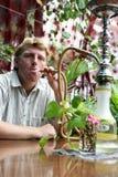 курильщица стоковые фотографии rf