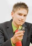 курильщица стоковые изображения rf