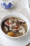 Куриный суп гриба каштана Стоковая Фотография RF