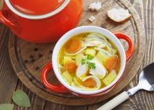 Куриный суп Стоковое Фото