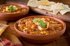 Куриный суп Tortilla Стоковая Фотография RF