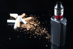 Курить и старт Quit vaping Стоковая Фотография