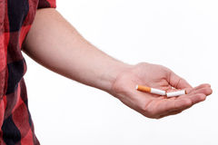 Курить очень вредн для нашего здоровья Стоковые Изображения