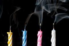 курить свечек дня рождения черный Стоковая Фотография RF