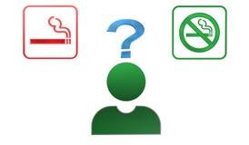 Курить сигареты? Не курите? иллюстрация штока