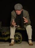 Курить старшего человека Стоковые Фотографии RF