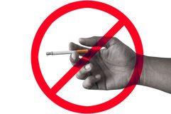 Курить стопа знака Стоковое Фото