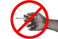 Курить стопа знака Стоковая Фотография